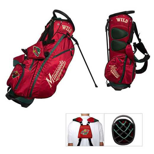 14328: Fairway Golf Stand Bag Minnesota Wild